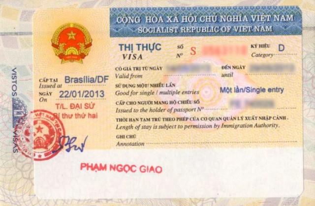 Visto Vietnã