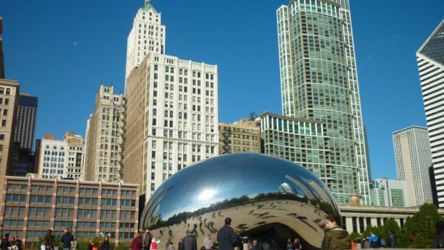 Cloud Gate (The Bean) - Millenium Park - Chicago (Foto: Esse Mundo é Nosso)
