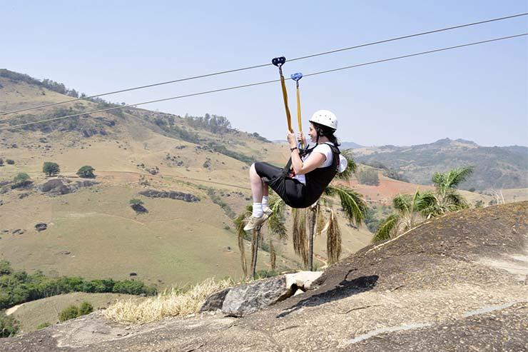 Tirolesa do Hotel Fazenda Parque dos Sonhos (Foto: Divulgação)
